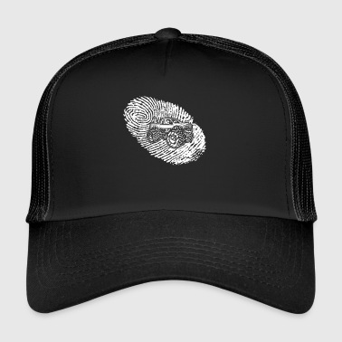 fingeravtrykk dna dns gave Big Foot monster tr - Trucker Cap
