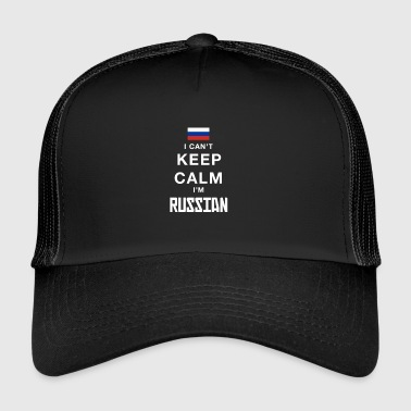 I can not stay calm, I am Russian - Trucker Cap