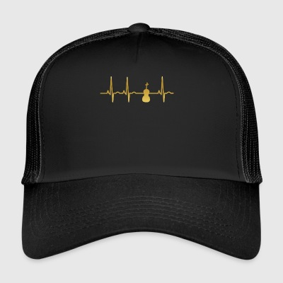evolution ekg heartbeat fiddle fiddle - Trucker Cap