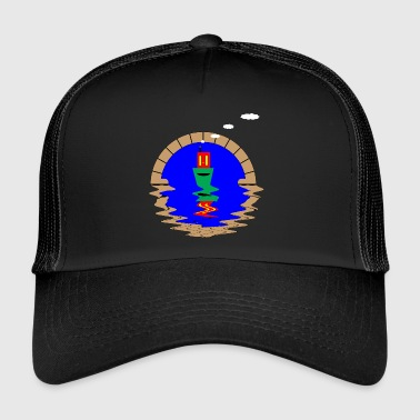 narrowboat and tunnel - Trucker Cap