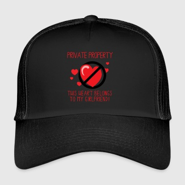 Girlfriend Questo Heart Belongs To My Girlfriend - Trucker Cap