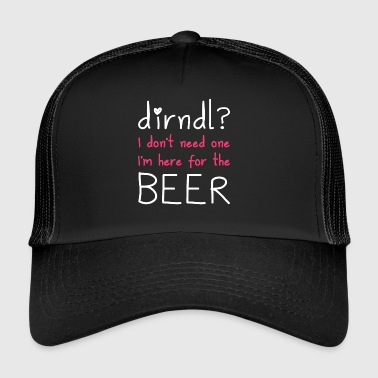 Dirndl? Jeg er her for øl - Trucker Cap