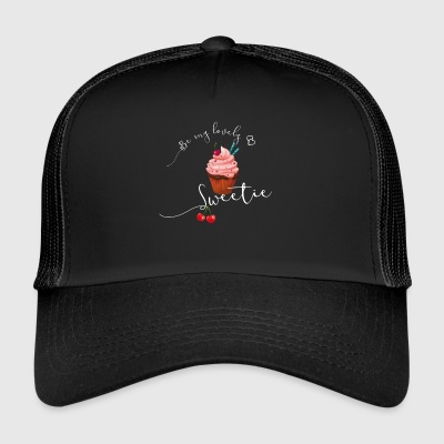 Sweet cupcake sweet cherry heart love pink - Trucker Cap