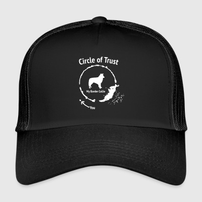 Funny Border Collie skjorte - Circle of Trust - Trucker Cap