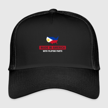 Made In America With Filipino Parts Philippines - Trucker Cap