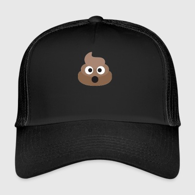 Poo Emoji Face! Retro Design! - Trucker Cap