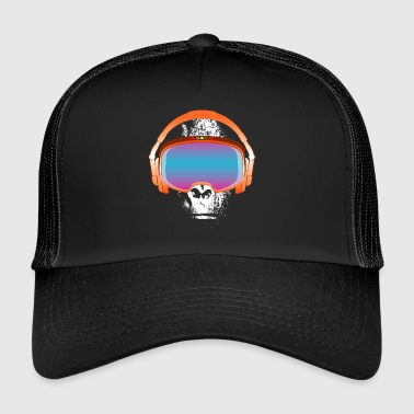 Techno monkey - music - gorilla - Trucker Cap