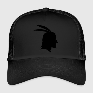 Indiens chiffre d'ombre Apache / Sioux / Maya - Trucker Cap
