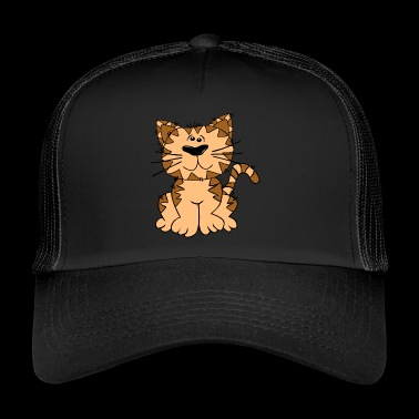 chat brun - Trucker Cap