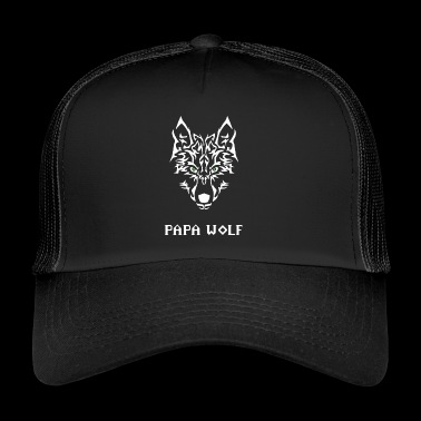 Papa wolf. Gifts for dads - Trucker Cap