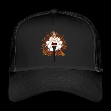 Explosive Hot Blonde Girl - Trucker Cap