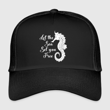 Let the sea set you free.Nautical. Seaside Gifts. - Trucker Cap