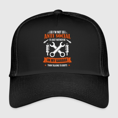 Mechanic i garasjen antisosial - - Trucker Cap