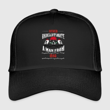 never underestimate man IRAQ - Trucker Cap