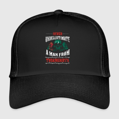 never underestimate man TURKMENISTAN - Trucker Cap