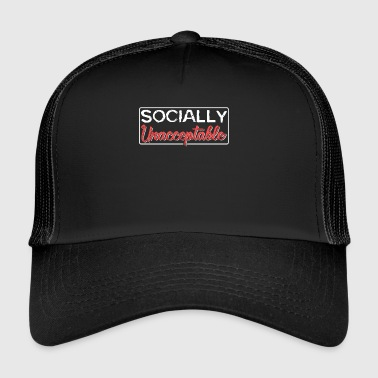 socialement inacceptable - Trucker Cap