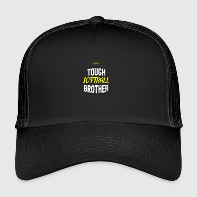 Distressed - TOUGH SOFTBALL BROTHER - Trucker Cap