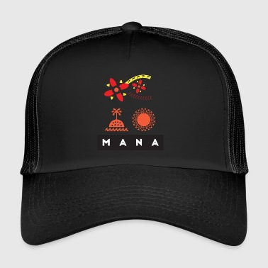 Mana Surf Sun Sea Flower and Love by Te-Moana - Trucker Cap