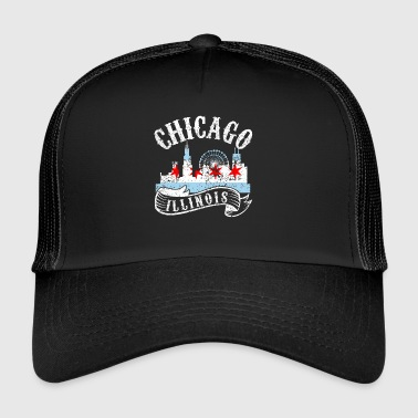 Chicago Illinois Vintage by Look - Trucker Cap