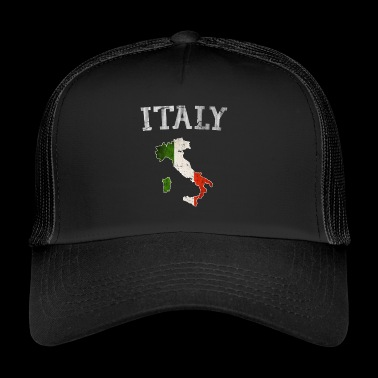 Vintage Italia Italy Italian flag country outline - Trucker Cap