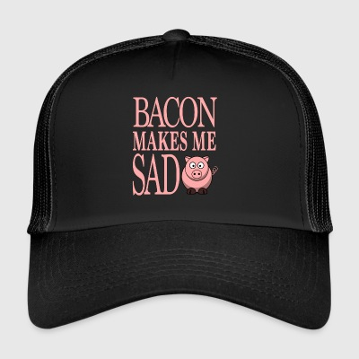 Funny Vegetarian Vegan Gift - BACON MAKES - Trucker Cap