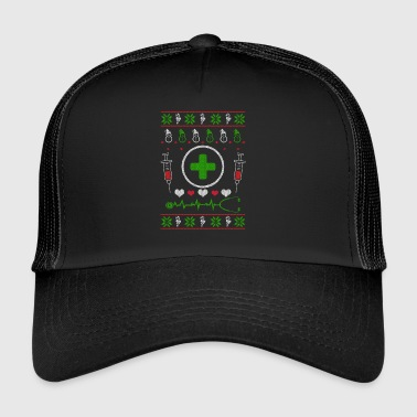 Nurse nursing profession Ugly Christmas - Trucker Cap