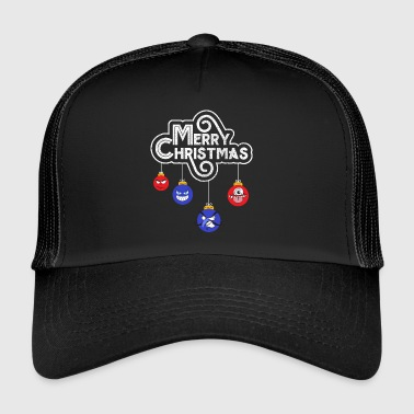 Bad Santa Comic Art graphique Noël boules cadeau - Trucker Cap