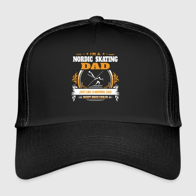 Nordic Skating Dad Shirt Gift Idea - Trucker Cap