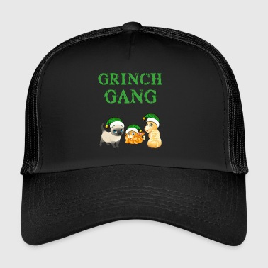 Grinch Noël Cat Gang - Trucker Cap