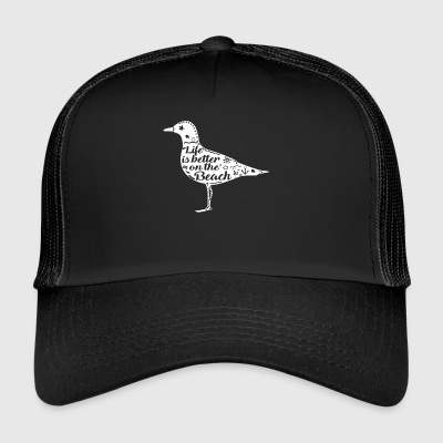 Seagull seagull beach vacation sea coast sailing harbor - Trucker Cap