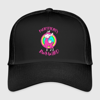 Unicorn Lama: embarrassing is not possible? colorful trendy + - Trucker Cap
