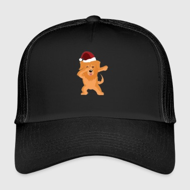 Cute Golden Retriever Dabbing Christmas Shirt - Trucker Cap