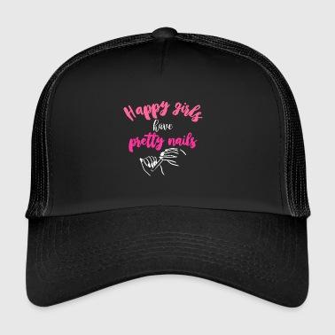 Happy girls have pretty nails - Trucker Cap