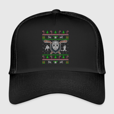 Hockey Ugly Christmas Sweater Gift - Trucker Cap