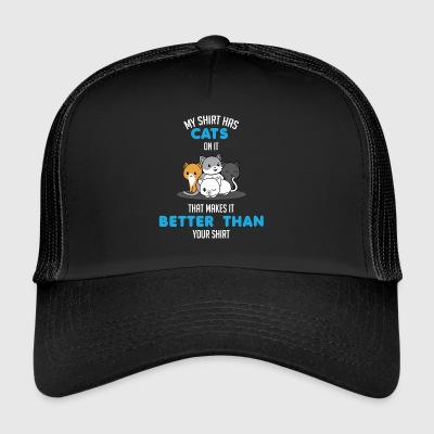 Funny Cat T-Shirt - Gift - Trucker Cap