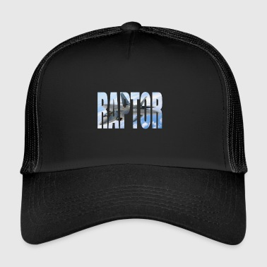 F22 Fighter Raptor photo behind great font - Trucker Cap