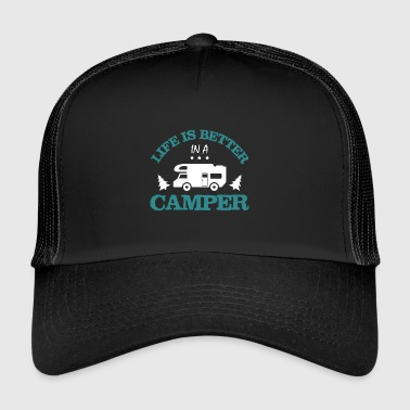 Camping - Camper - husvagn - Gift - Trucker Cap