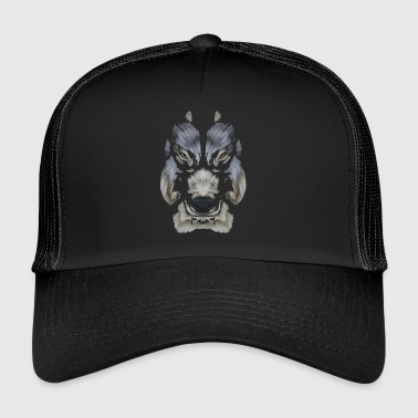 loup patte - Trucker Cap