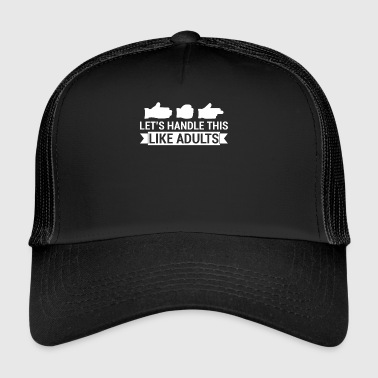 Rock Paper Scissors - Funny Nerd Shirt - Trucker Cap