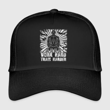 Gym Fitness Gift Work hard, train harder! gain - Trucker Cap