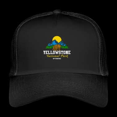 Park Narodowy Yellowstone Wyoming Bear Nature Sun - Trucker Cap