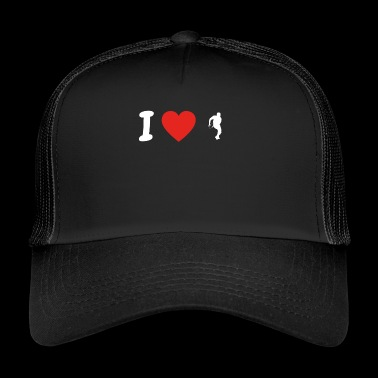 J'adore le football d'amour running back championnat colleg - Trucker Cap