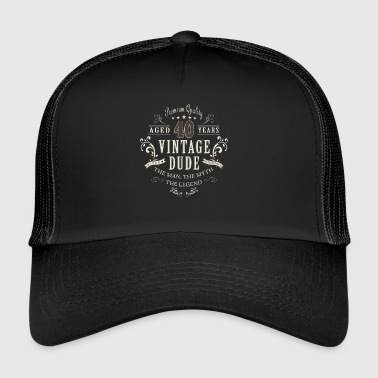 40th Birthday Vintage T-shirt prezent - Trucker Cap