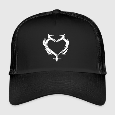 My heart for diving barter gift - Trucker Cap