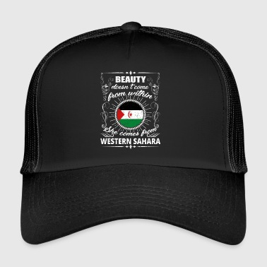 beauty comes from WESTERN SAHARA png - Trucker Cap