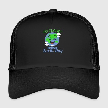 GO PLANET - IT'S YOUR EARTH DAY - WELT - ERDE - Trucker Cap