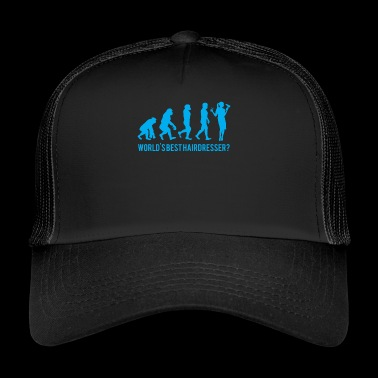Evolution - Friseur - Hairstylist - Lustig - Fun - Trucker Cap