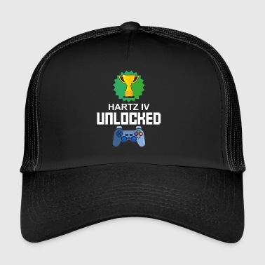 Niveau Unlocked Hartz IV Gamer Gaming cadeau - Trucker Cap