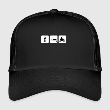Eat Sleep Motorcycle Dirtbike - Trucker Cap