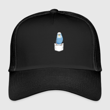Budgie breast pocket gift cartoon kawaii - Trucker Cap